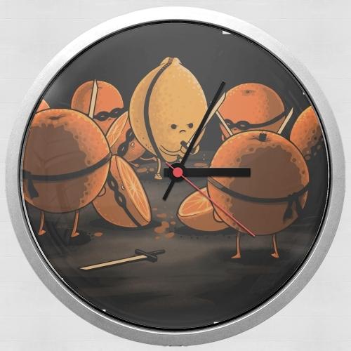 horloge orange kill fruit murale personnalis e. Black Bedroom Furniture Sets. Home Design Ideas