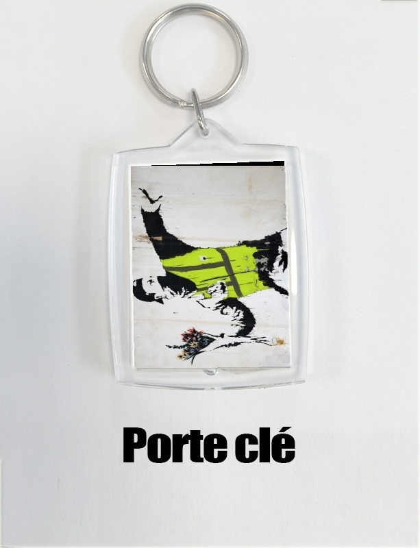 porte clé Bansky Yellow Vests