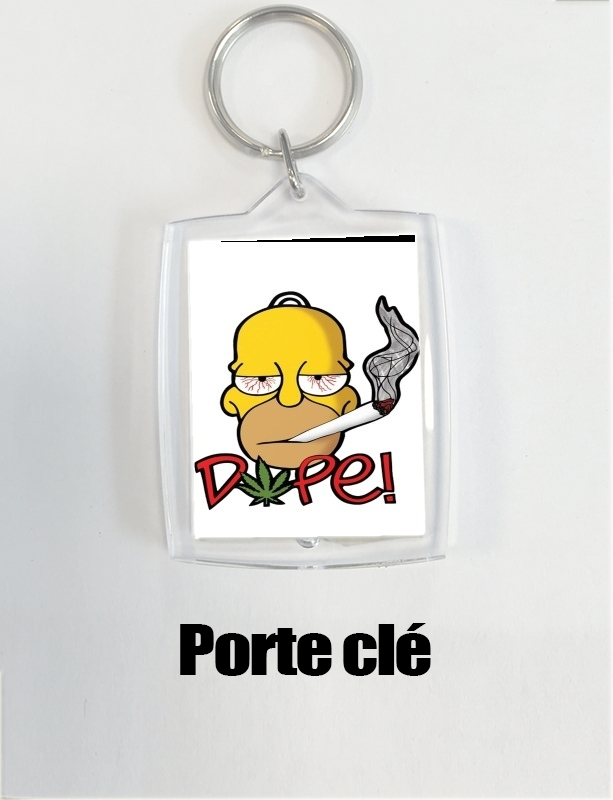 porte clé Homer Dope Weed Smoking Cannabis