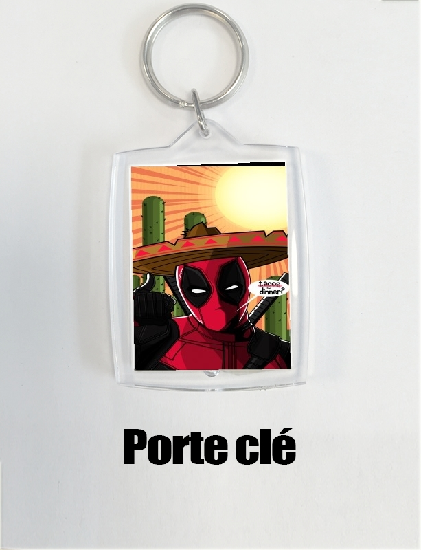 porte clé Mexican Deadpool