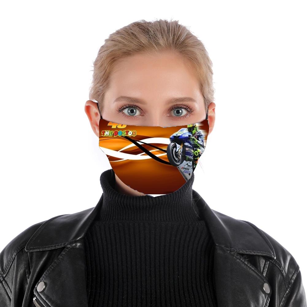 Masque alternatif en tissu barrière Fan de VR46 Doctors