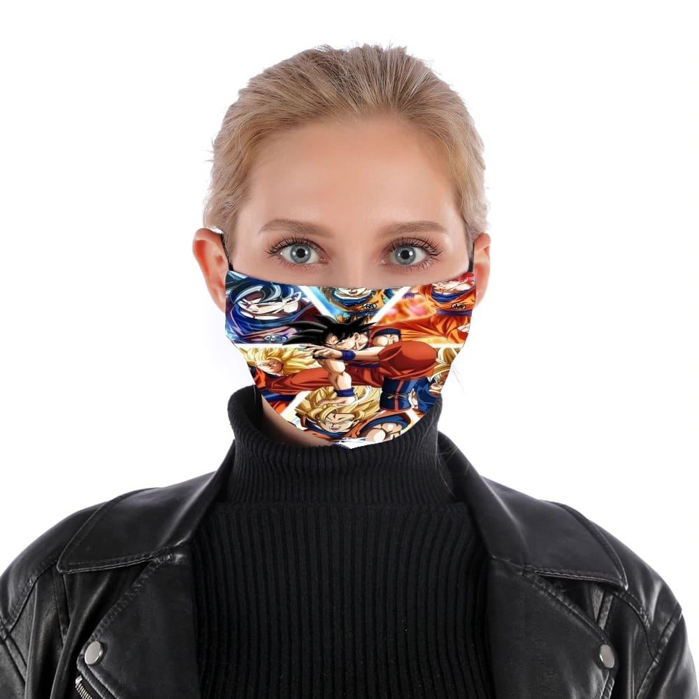 Masque Alternatif Goku Ultra Instinct En Tissu