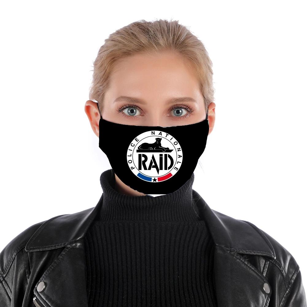Masque alternatif en tissu barrière Raid Police Nationale