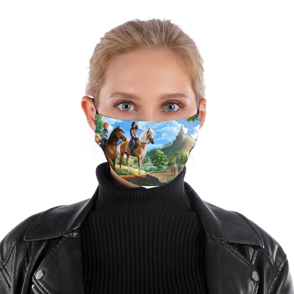 Masque alternatif Star Stable jeu de chevaux en ligne en tissu