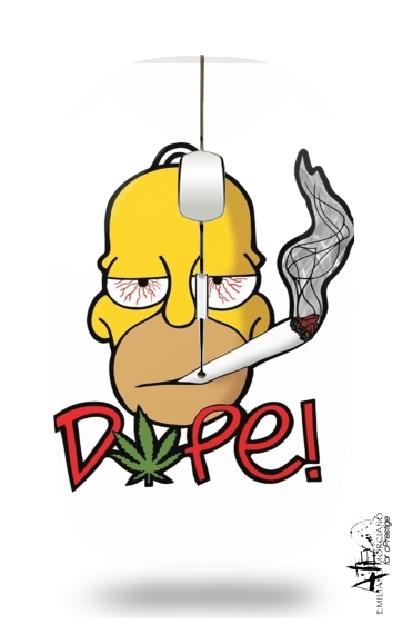 souris sans fil Homer Dope Weed Smoking Cannabis