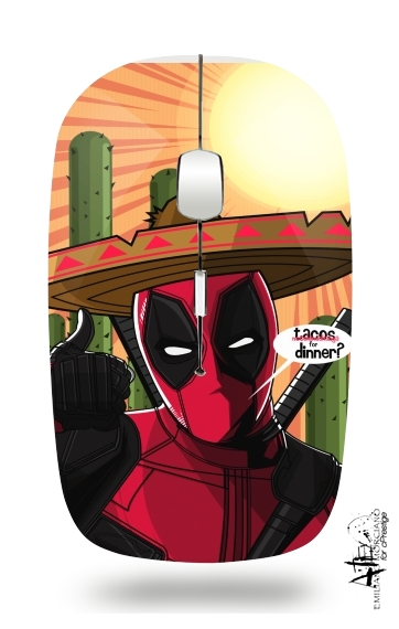 souris sans fil Mexican Deadpool