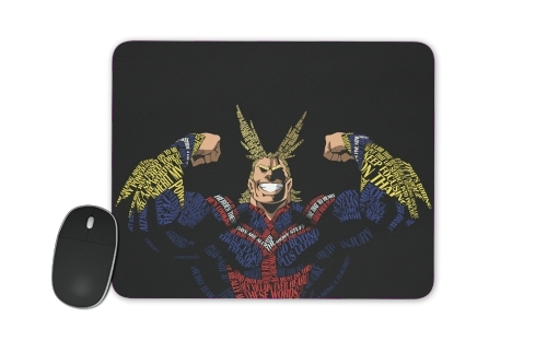 tapis de souris All Might Toshinori Word Art
