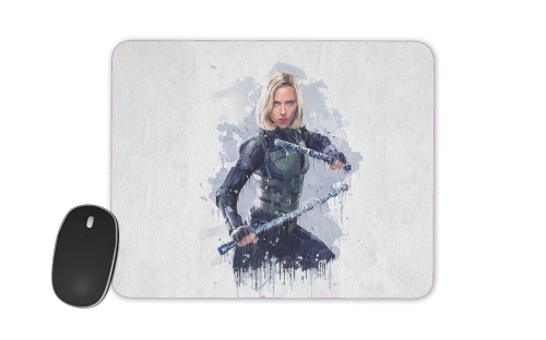 tapis de souris Black Widow Watercolor art