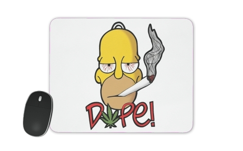 tapis de souris Homer Dope Weed Smoking Cannabis