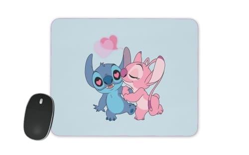 Tapis De Souris Stitch Angel Love Heart Pink