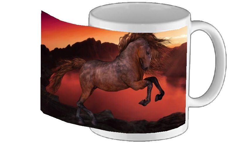 mug A Horse In The Sunset