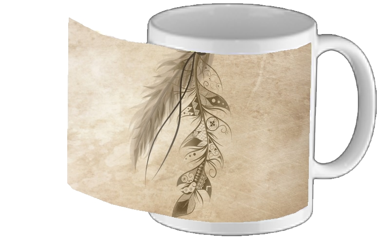 tasse mug Boho Feather