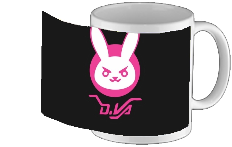 mug Overwatch D.Va Bunny Tribute Lapin Rose