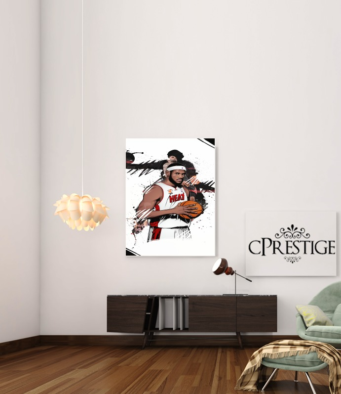 Poster basketball stars lebron james adh sif 30 40 cm for Interieur sport lebron james