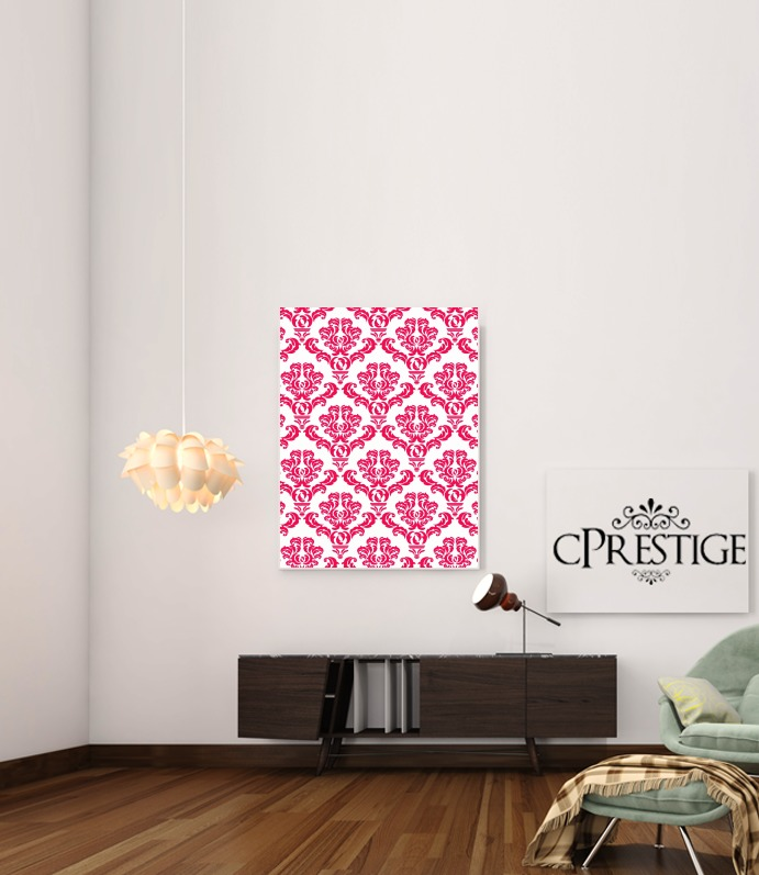 Poster Damask Red