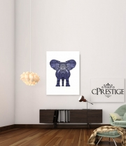 poster Elephant Blue