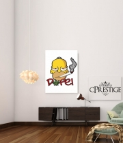poster Homer Dope Weed Smoking Cannabis