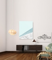 poster Initiale Marble and Glitter Blue