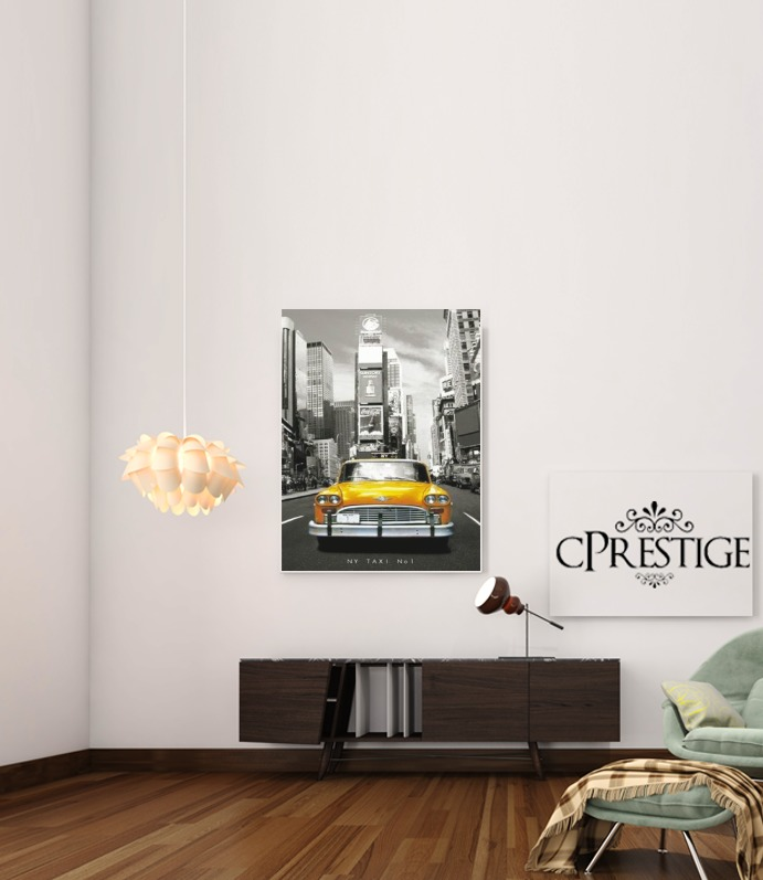 Poster taxi jaune ville de new york city adh sif 30 40 cm personnalis e for Poster de porte new york