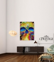 poster Skull Couleur Flashy