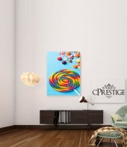 poster Waffle Cone Candy Lollipop