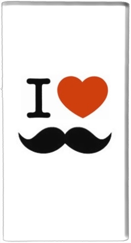 batterie motif I Love Moustache