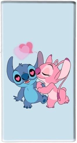Batterie Externe De Secours Usb 5000 Mah Stitch Angel Love Heart Pink