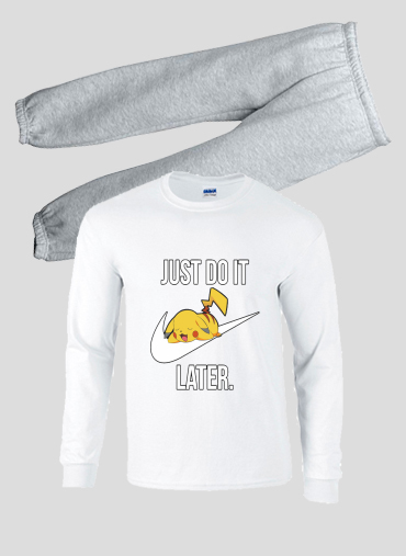 pyjama Nike Parody Just Do it Later X Pikachu