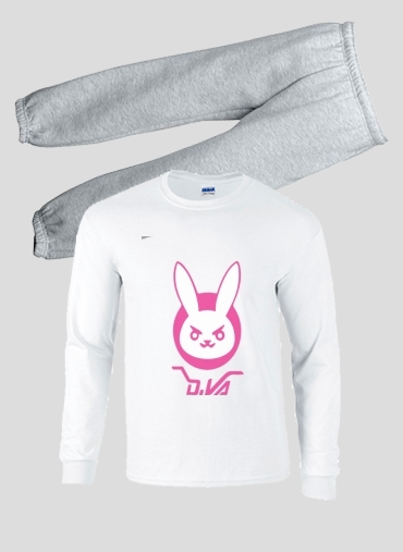 pyjama Overwatch D.Va Bunny Tribute Lapin Rose