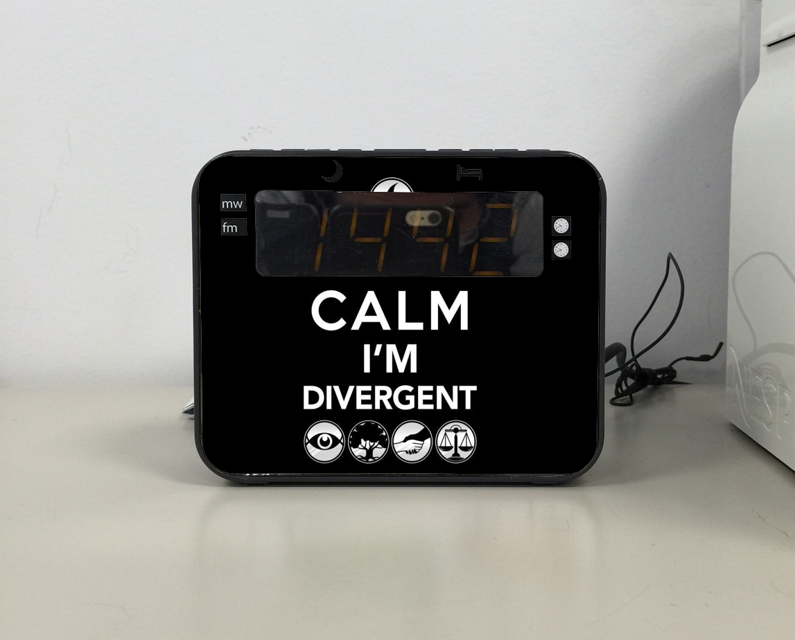 radio réveil Keep Calm Divergent Faction