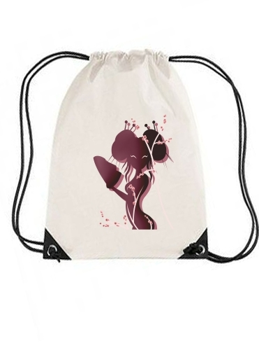 sac de sport Akiko asian woman avec cordon