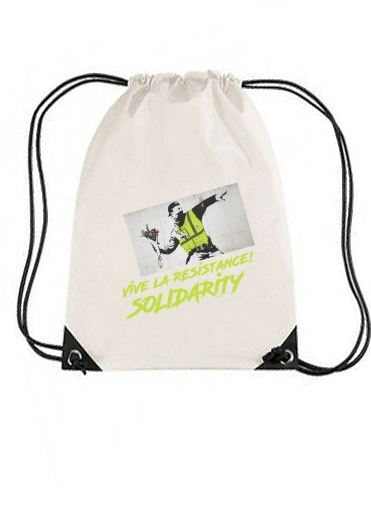 sac de sport Bansky Yellow Vests avec cordon