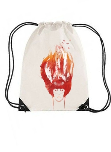 sac de sport Burning Forest avec cordon