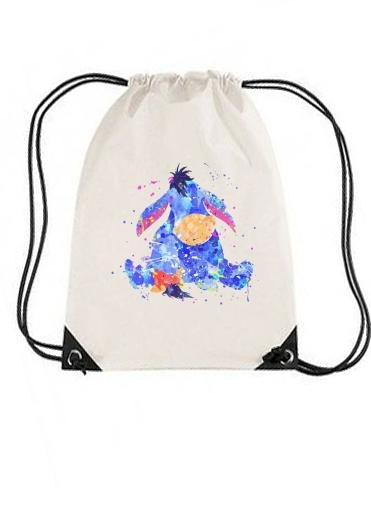 sac de sport Bourriquet Water color style avec cordon