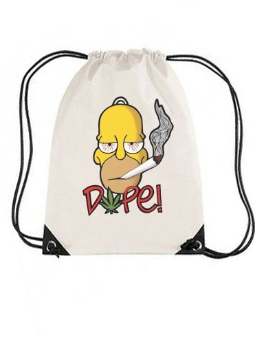 sac de sport Homer Dope Weed Smoking Cannabis avec cordon