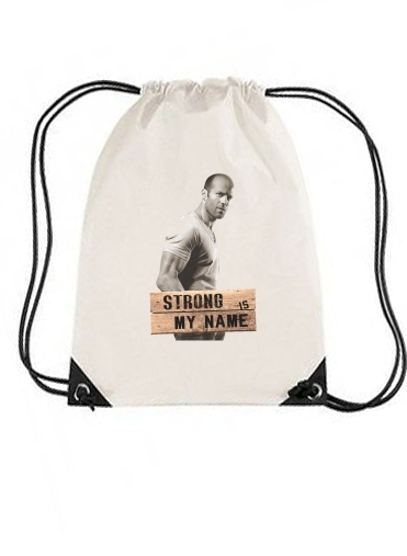 sac de sport Jason statham Strong is my name avec cordon