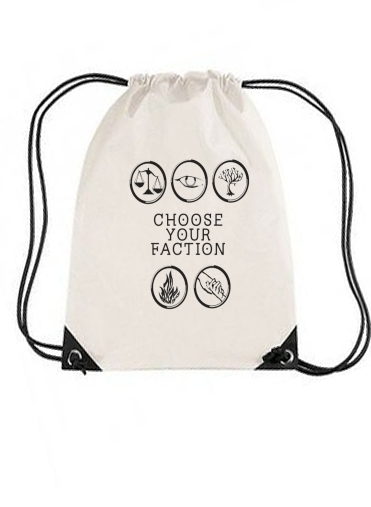 sac de sport Keep Calm Divergent Faction avec cordon