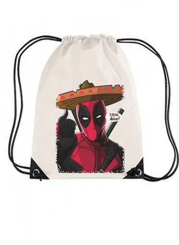 sac de sport Mexican Deadpool avec cordon