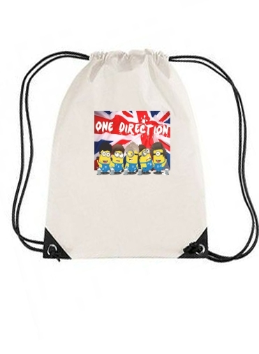 sac de sport Minions mashup One Direction 1D avec cordon
