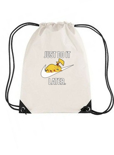 sac de sport Nike Parody Just Do it Later X Pikachu avec cordon