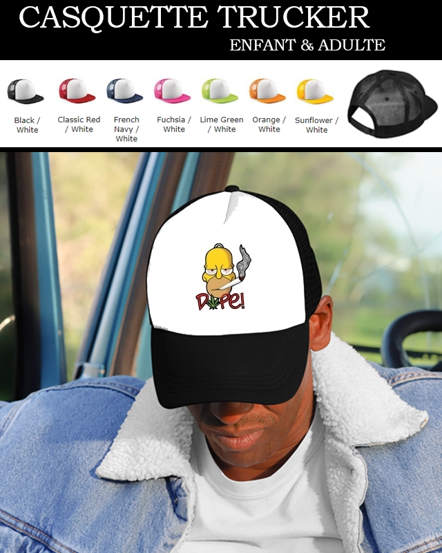 casquette Homer Dope Weed Smoking Cannabis