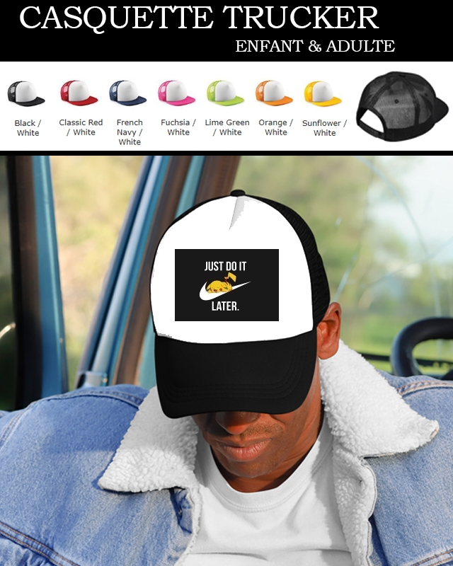 casquette Nike Parody Just Do it Later X Pikachu