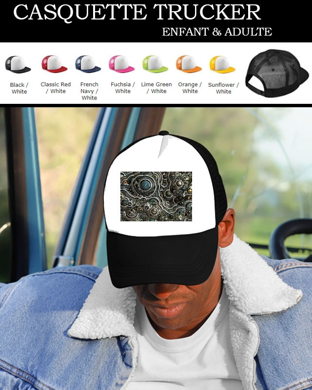 casquette Silver glitter bubble cells