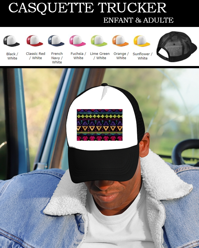 casquette Sweet Triangle Pattern