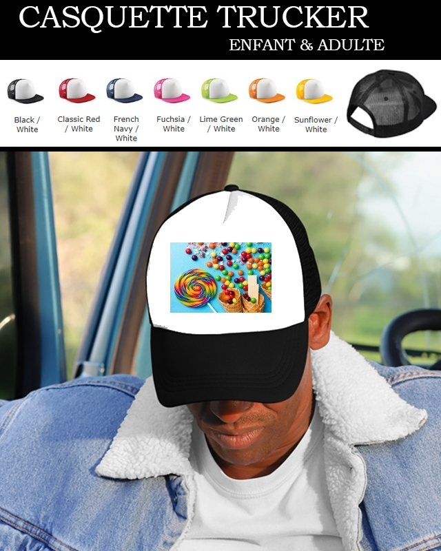 casquette Waffle Cone Candy Lollipop