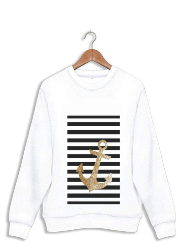 sweat gold glitter anchor in black