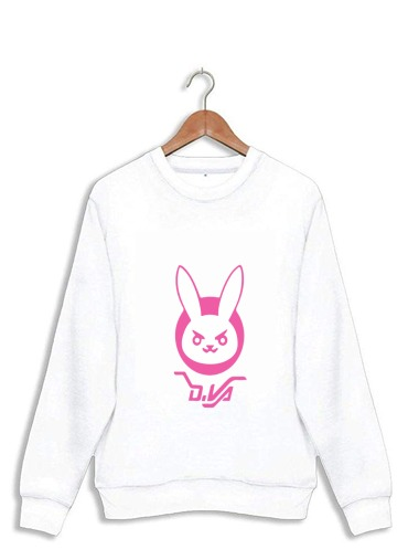 sweat Overwatch D.Va Bunny Tribute Lapin Rose