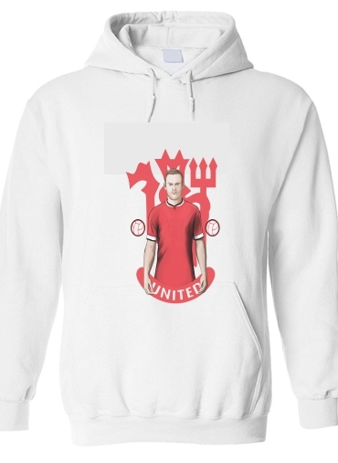 pull capuche hoodie Football Stars: Red Devil Rooney ManU