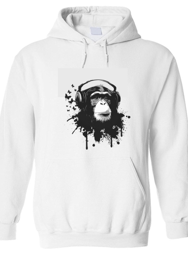 pull capuche hoodie Monkey Business - White