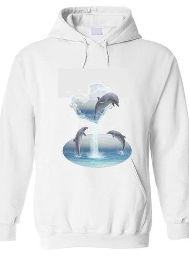 pull capuche hoodie The Heart Of The Dolphins
